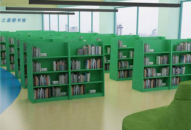 儿童图书室书架—学校图书室书架—图书