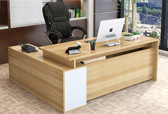 老板桌大班台 时尚老板办公大班台 办公桌书架组合组合