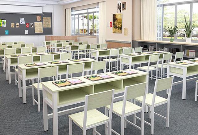 双人课桌椅—双人学生课桌椅—双人学生课桌椅定制