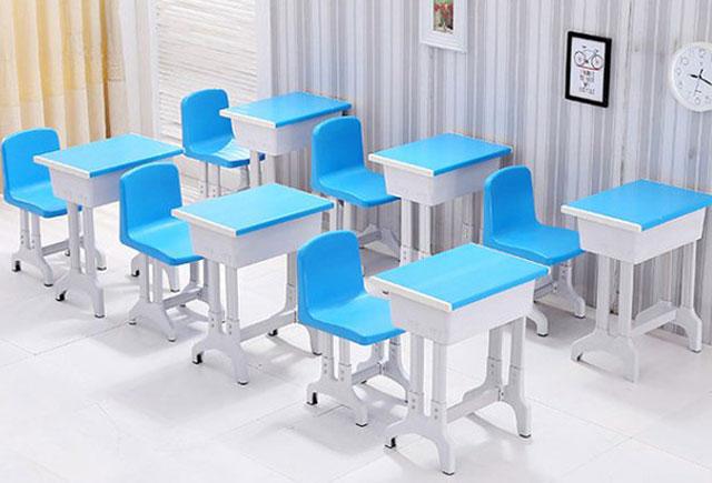 幼儿园单人课桌椅_幼儿园可升降单人课桌椅