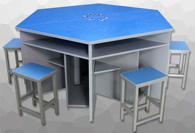 计算机教室课桌椅—计算机培训教室桌椅