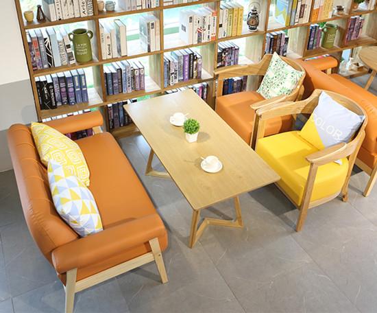 书店书城休闲读书桌椅 书吧书咖阅读桌椅沙发卡座