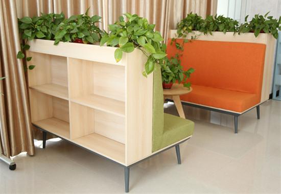 图书馆沙发书架 阅览室沙发软包书柜