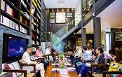 静安区石门二路街道图书馆阅览桌设计