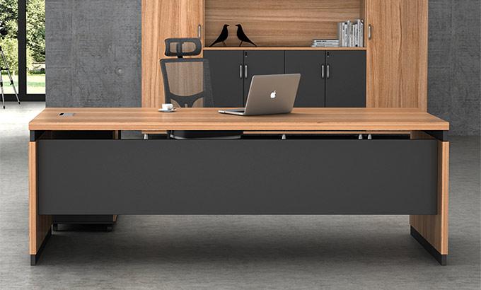 原木色办公桌-原木色办公桌图片-品源办公家具