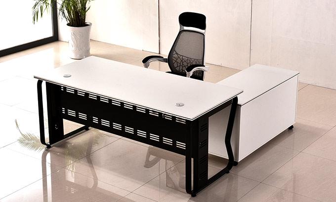 现代钢制大班台办公桌椅-现代钢制办公桌