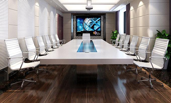 白色板式会议桌-白色板式会议桌厂家