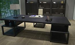 中式总裁办公桌实木办公大班台