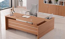 简单财务办公桌 原木色财务办公桌 板式财务办公