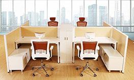 一体式办公桌【屏风办公桌】