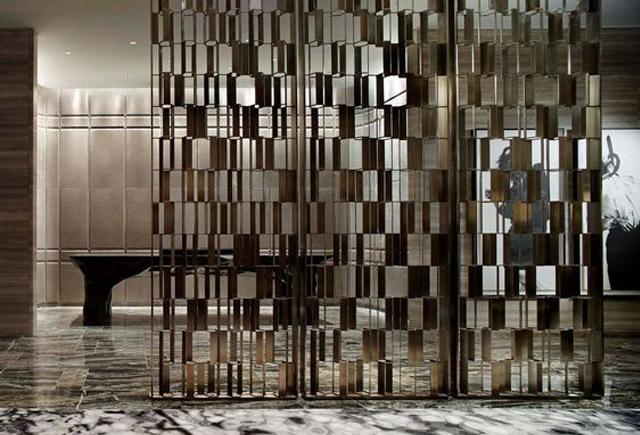 酒店不锈钢屏风―酒店不锈钢屏风定制―酒店大堂不锈钢屏风