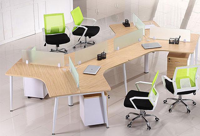 多边形办公桌―多边形办公桌定制―办公室多边形办公桌