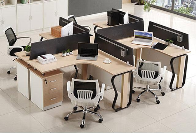 浙江嘉兴市十字形办公桌安装方法-品源办公家具
