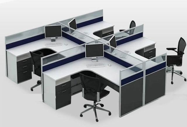 新款职员隔断桌-隔断职员办公桌—职员隔断桌定制
