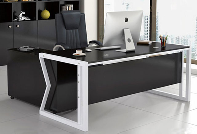 转角单人办公桌―定制转角办公桌―钢架转角办公桌