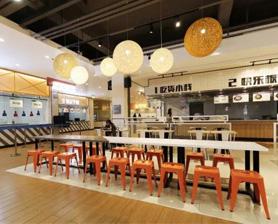上海长宁区食堂的座椅颜色