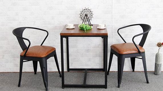 铁艺咖啡桌椅设计