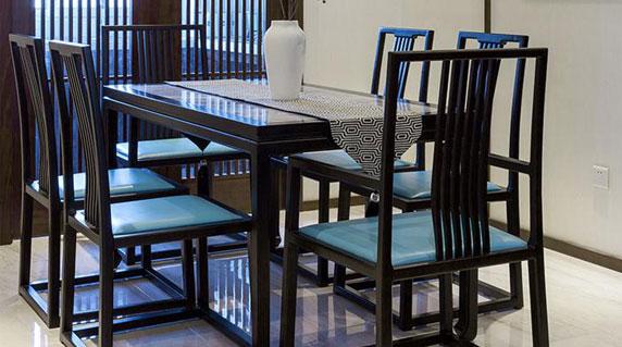 新中式餐桌现代设计