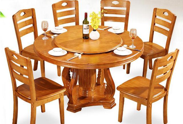 中式饭店餐桌—饭店用圆餐桌—饭店圆形餐桌