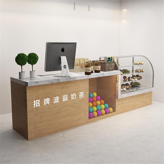 奶茶店吧台收银台点餐台 饮品店甜品店收银台柜台
