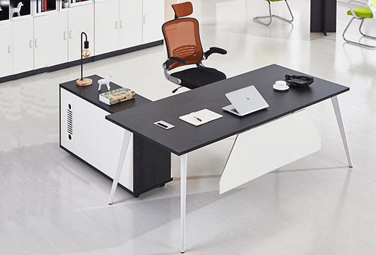 带挡板办公写字台 实木板面办公班台
