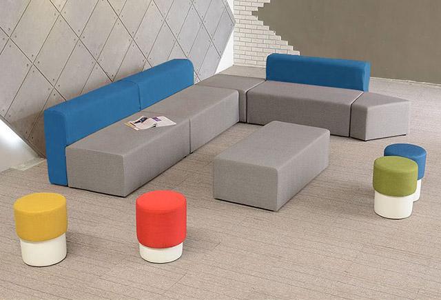 学校大厅休闲沙发_学校大厅组合沙发-上海品源学校家具