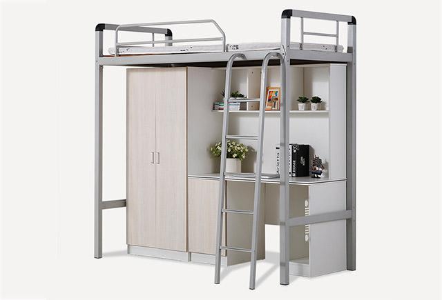 学生宿舍上下床_学生公寓上下床_大学生宿舍上床下柜-上海品源学校家具