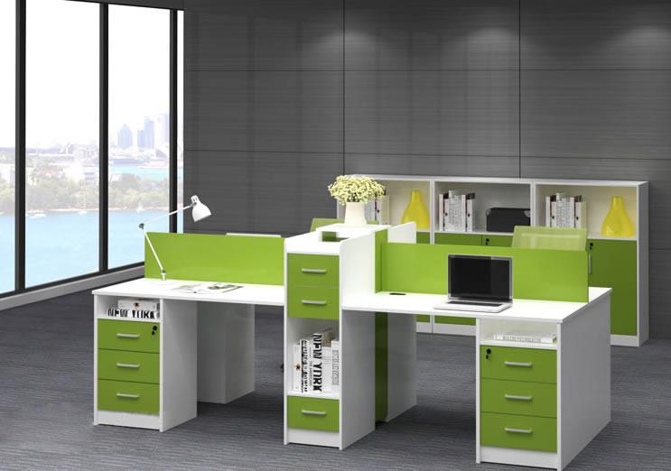 带隔断办公桌_带隔断教师办公桌_带隔断书柜办公桌-上海品源学校家具