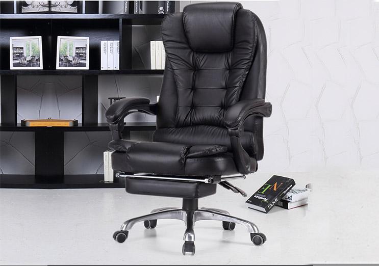 办公椅升降转椅-真皮时尚老板椅