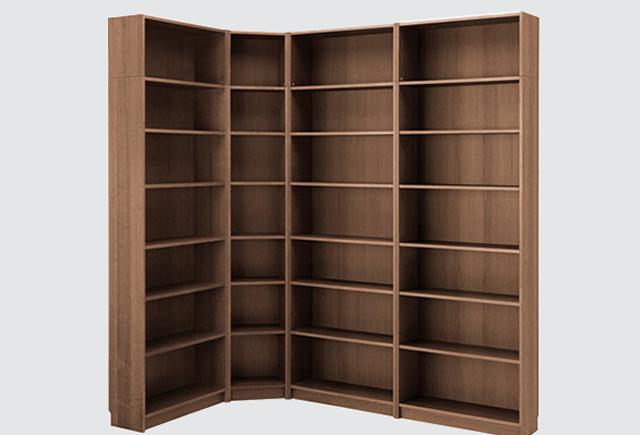图书馆木质书架_单面图书馆书架
