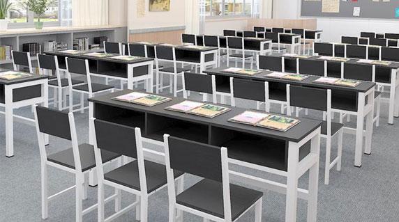 双人学生课桌椅