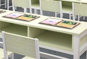 双人课桌椅收纳空间