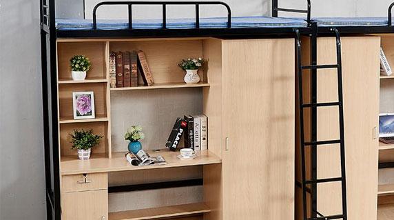 四人间宿舍床桌柜设计