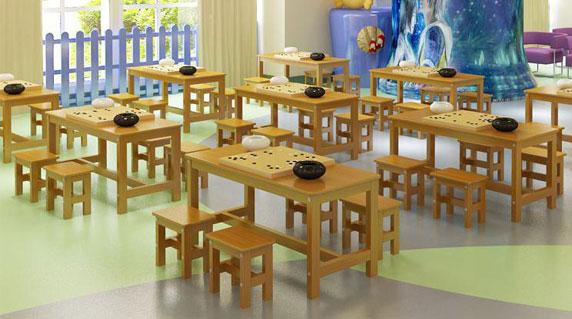 培训课桌椅古风