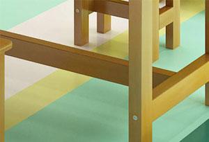 学生培训课桌椅圆角设计