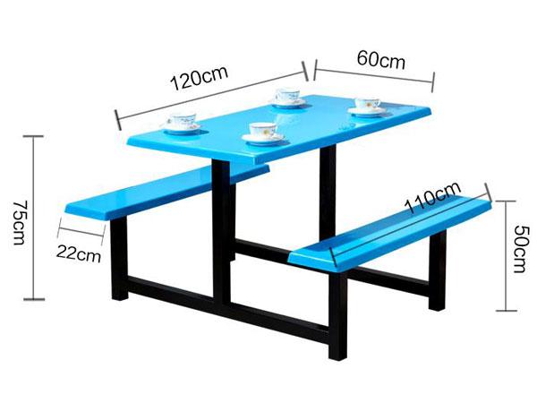 职工餐厅桌椅尺寸