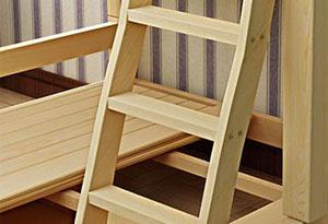 双层宿舍床爬梯设计