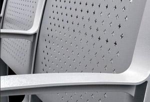 大学教室课桌椅座背板