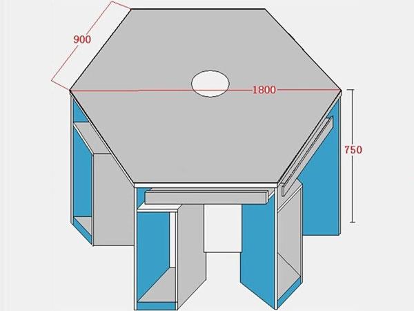 计算机教室课桌椅尺寸