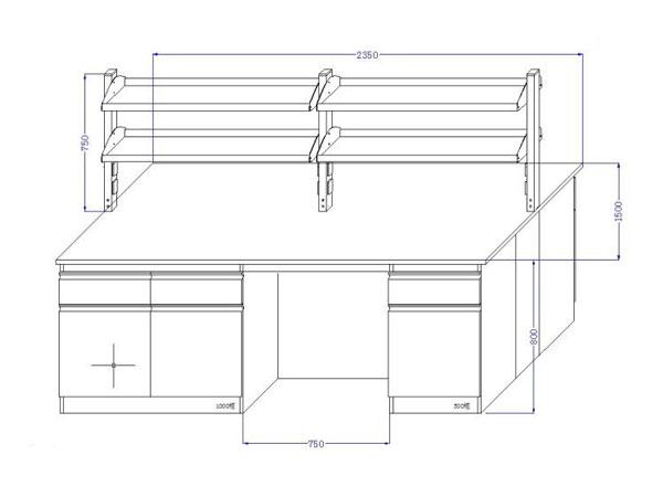 实验室实验台柜尺寸