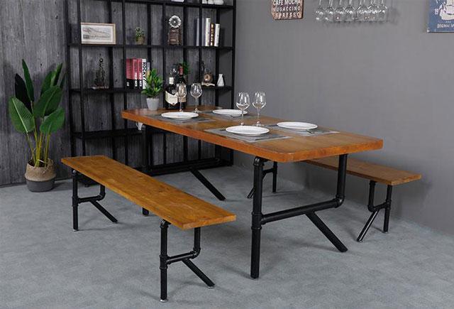 新中式4人餐桌—新中式餐桌椅—中式餐桌椅