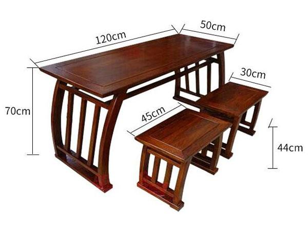 书法培训课桌尺寸