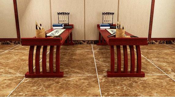 书法教室桌椅工艺