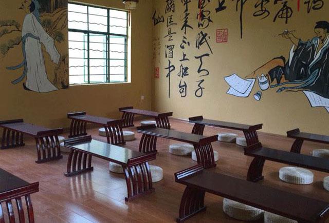 书法培训课桌