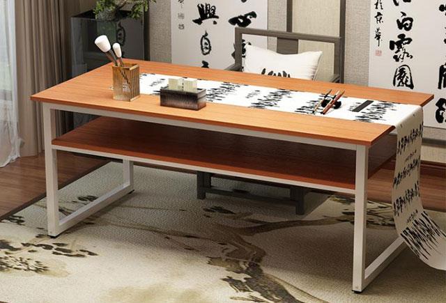 中式书法桌—学校书法桌—书法专用桌