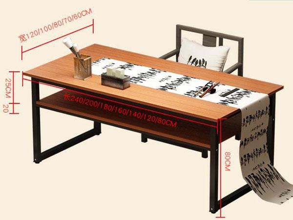 中式书法桌尺寸