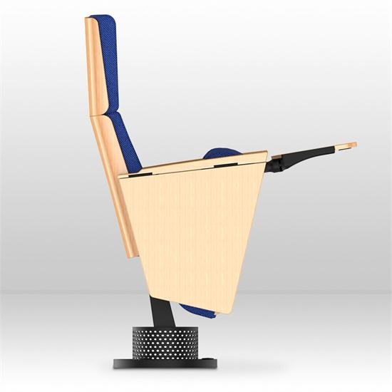 学校礼堂椅带写字板 布艺礼堂椅台阶式