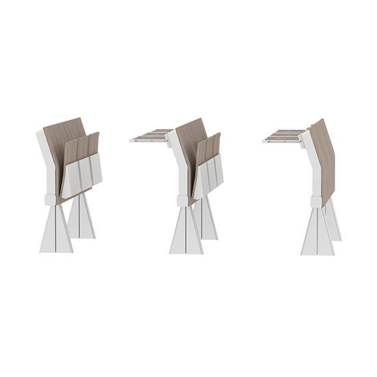 大学阶梯教室桌椅一体 阶梯教室桌椅可折叠