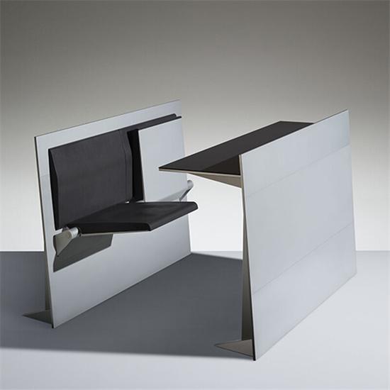 学校多功能报告厅桌椅一体 多功能报告厅桌椅可折叠