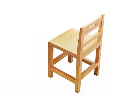学生椅带靠背 实木学生椅漆面